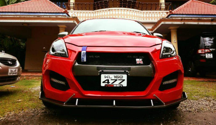 Woah! A Swift disguised as a Nissan GT-R