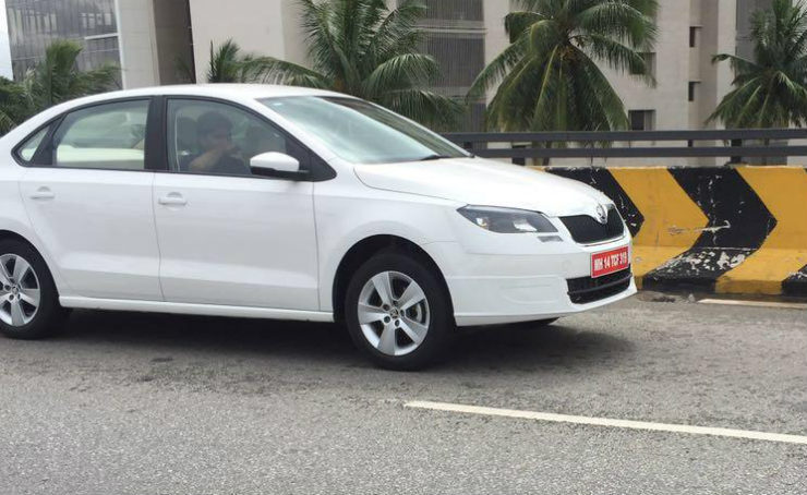 2016 Skoda Rapid caught on test; launch in the coming months