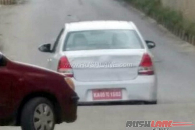 Toyota Etios facelift spotted; to be launched in the festive season