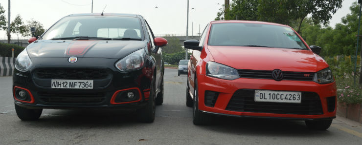 Watch the Fiat Punto Abarth vs VW Polo GT TSi in a DRAG RACE