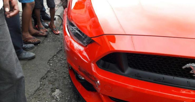 Ford Mustang Accident 1