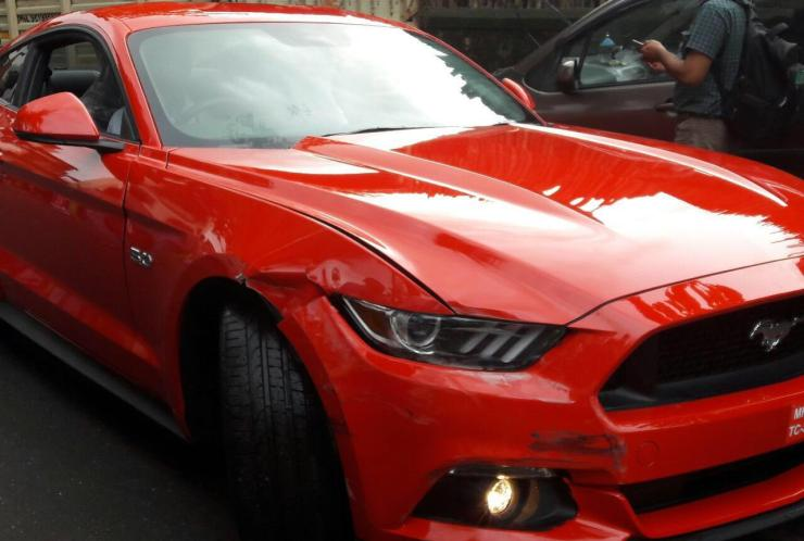 Ford Mustang Accident 2