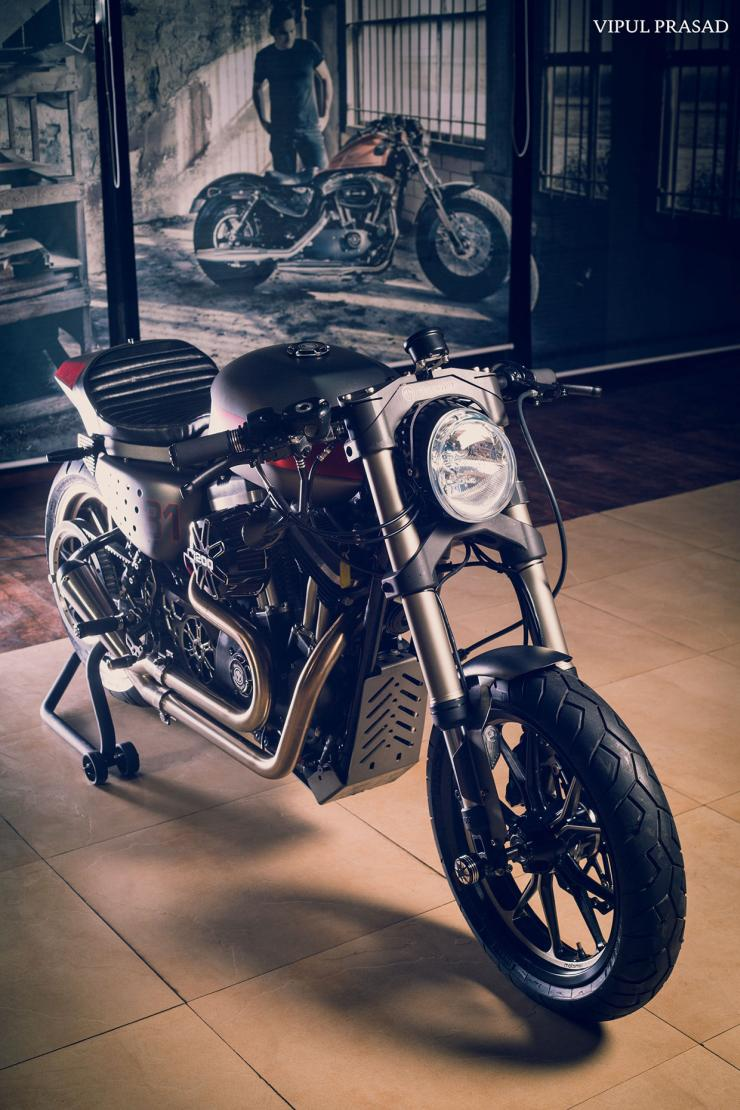 Motomius Harley Davidson 48 Cafe Racer Is One Of Indias HOTTEST Harleys