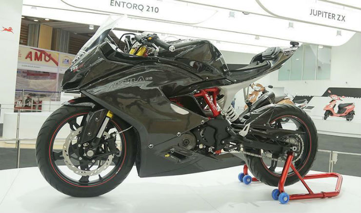 TVS Akula will be officially known as Apache RR 310S