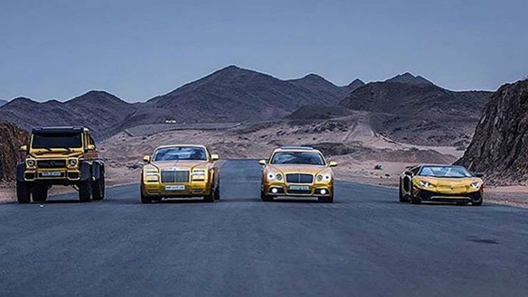 Cars for the GOLD obsessed: From India & the world