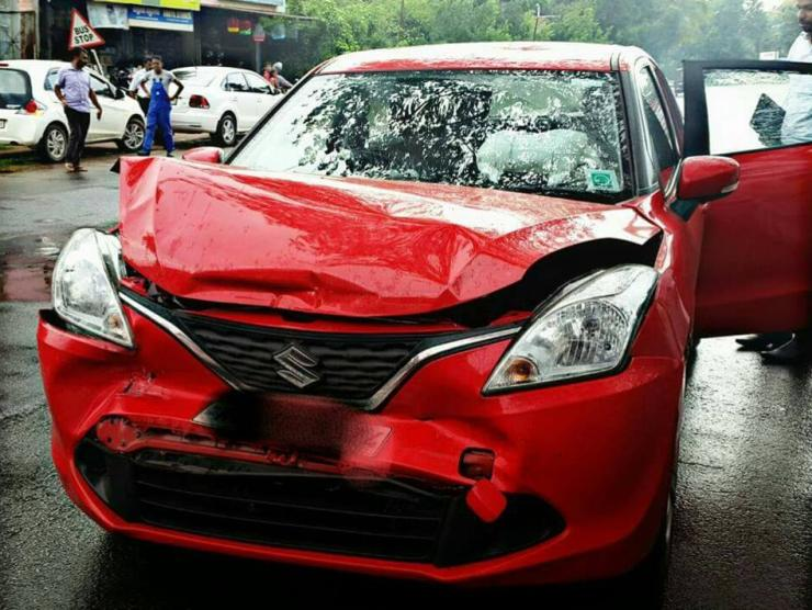 Maruti Baleno Crash