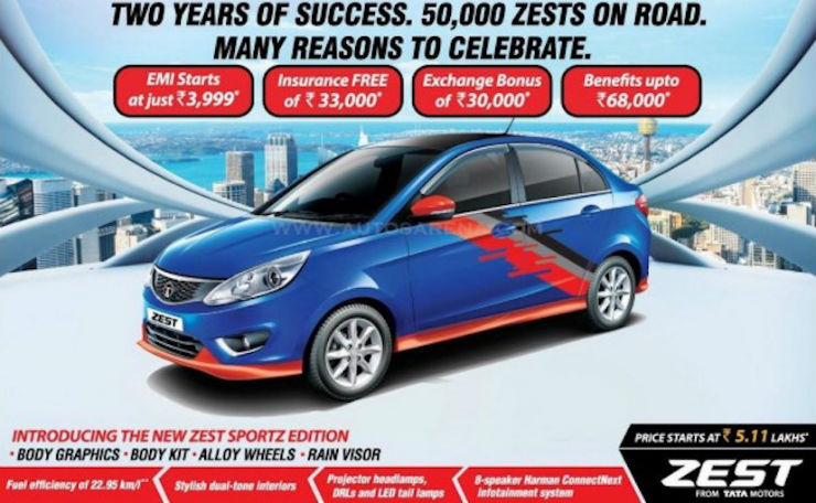 Tata Zest Sportz edition launched in India