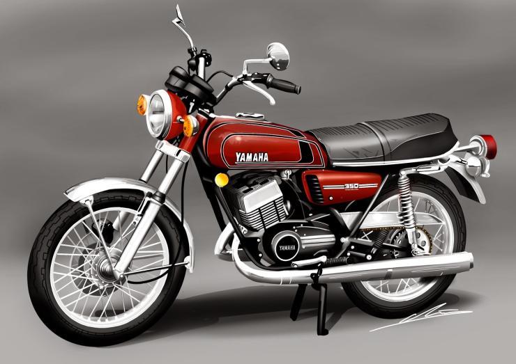 Who wants a 4 stroke Yamaha RD350? We do!