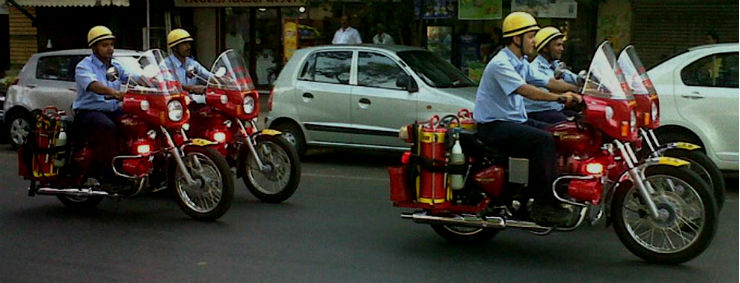 The Royal Enfield Bullet is now a 'Fire Engine' on two wheels