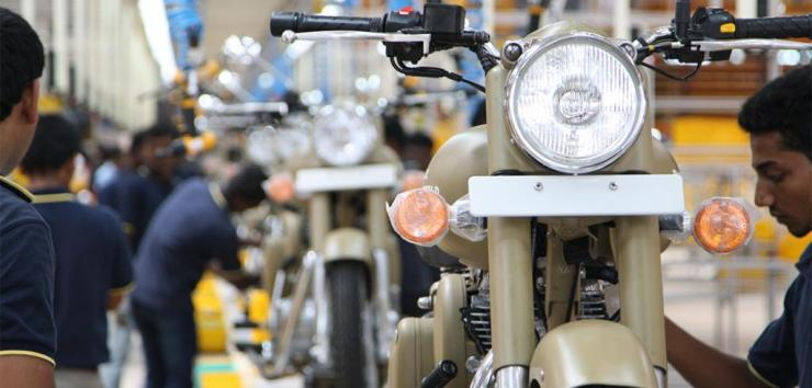 Royal Enfield Assembly Line
