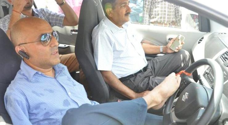 Vikram Agnihotri driving a car