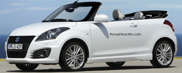 Maruti-Swift-front-imagined-as-a-cabriolet-Rendering