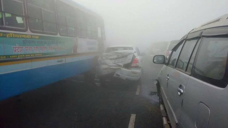 70 vehicles pile-up in 3 massive fog accidents in North India