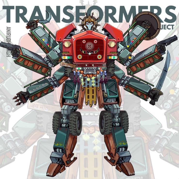 Indian Transformers, created by Anirudh Singh Shekhawat