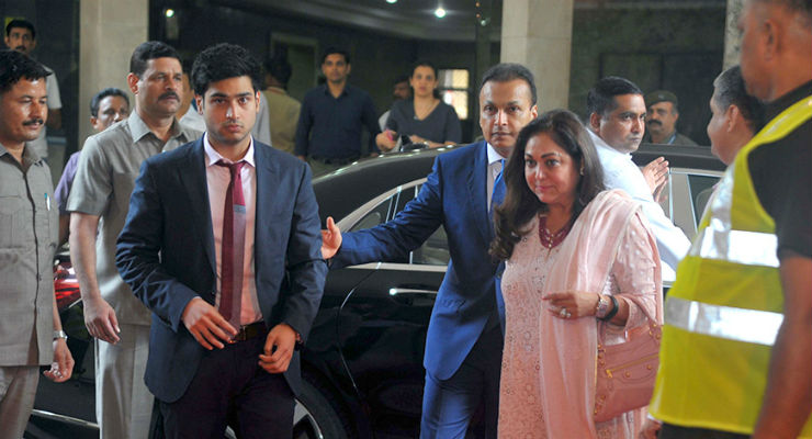 How the rich star and business kids in India move about