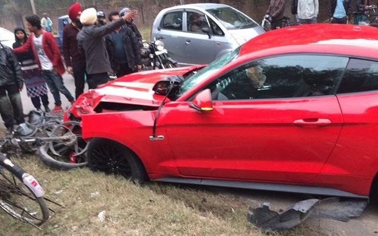 This Is The Second Ford Mustang Crash In India And It S Massive