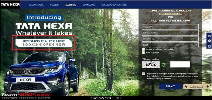 Wow! Tata Hexa prices revealed; Cheaper than XUV500 & Innova Crysta