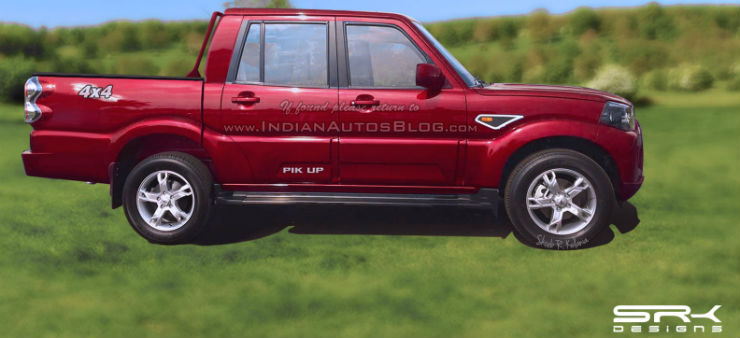 Mahindra-Pikup-side-rendering
