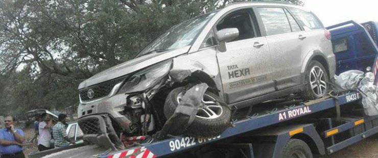 This is the first reported Tata Hexa crash, 3 weeks after launch