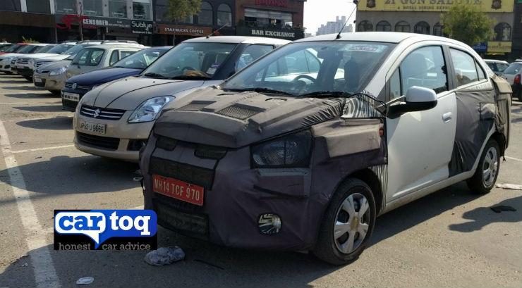 Chevrolet Beat Essentia spied