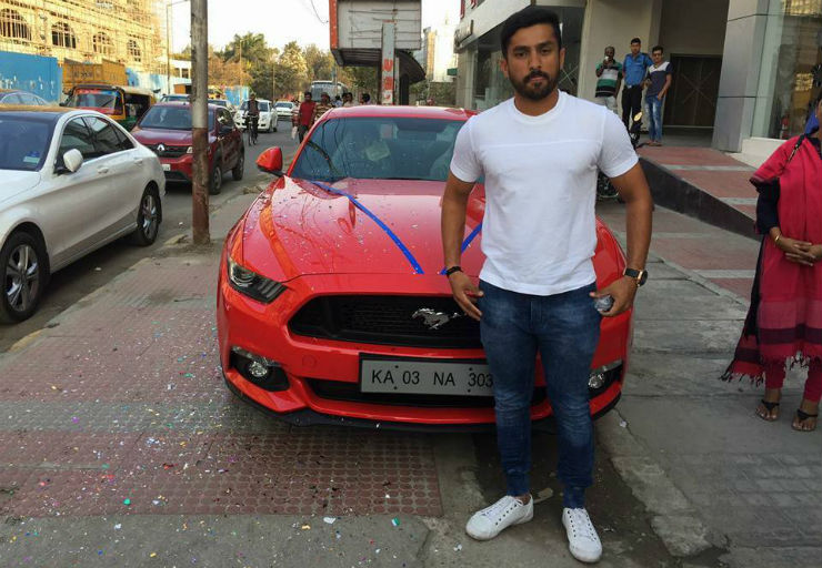 Triple centurion, cricketer Karun Nair is India's latest celeb Ford Mustang owner