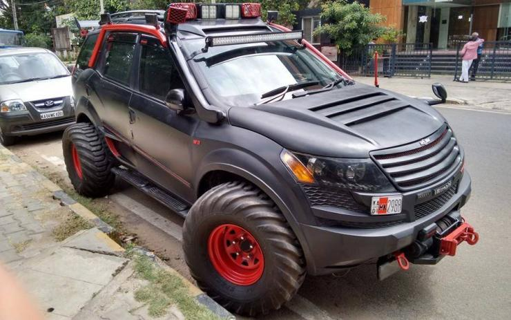 XUV500 with massive tyres