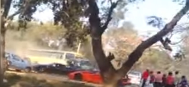[Video] Lamborghini, Ferrari and luxury cars mercilessly stoned by angry mob in India: Here's why