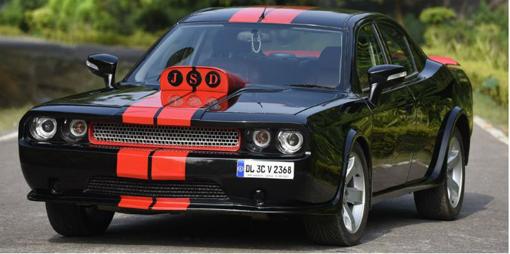 Dodge Car Modified >> Insane Car Replica Next Door Ford Mondeo To A Muscular Dodge Challenger