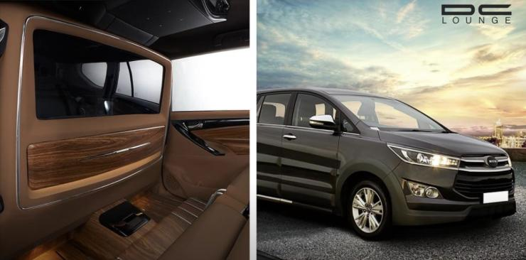 Innova Crysta with DC Design's 'brand new lounge' is TOTAL luxury