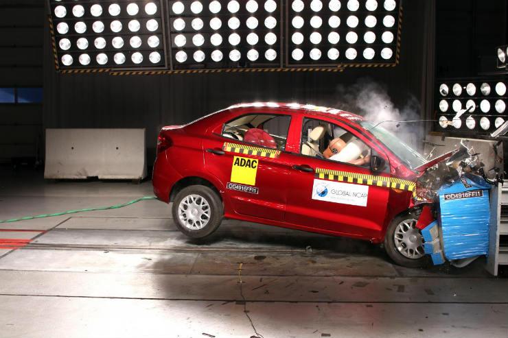 Ford Aspire and Chevrolet Enjoy crash tested