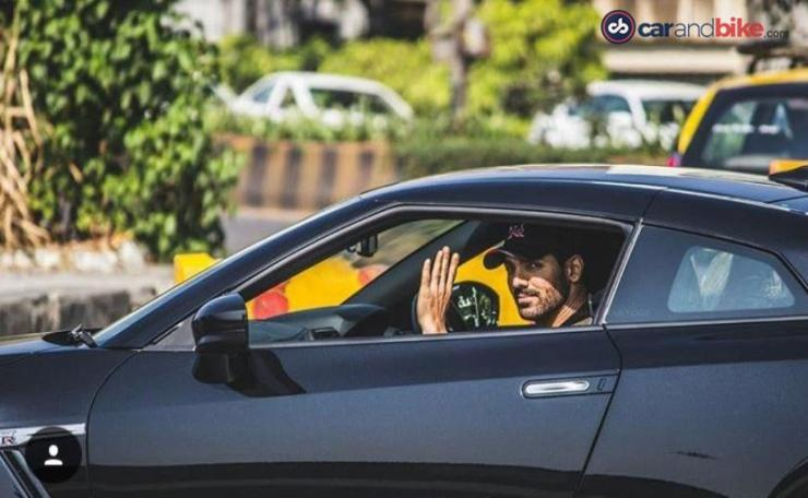 John Abraham with his Nissan GT-R 1