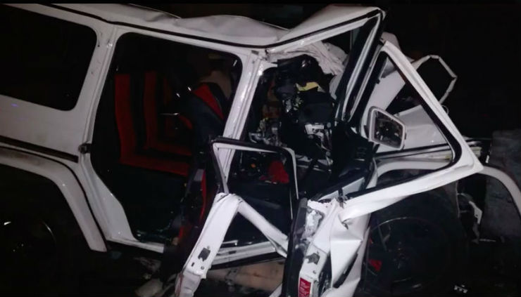 Nishit Narayana Mercedes Benz G63 AMG Crash