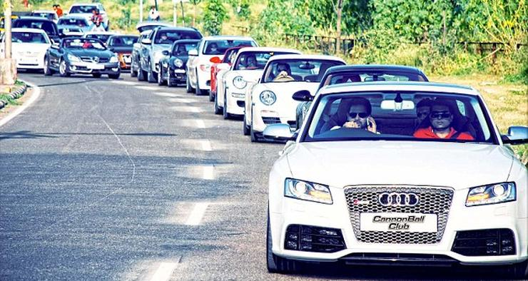 Supercar owner talking on mobile phone in India