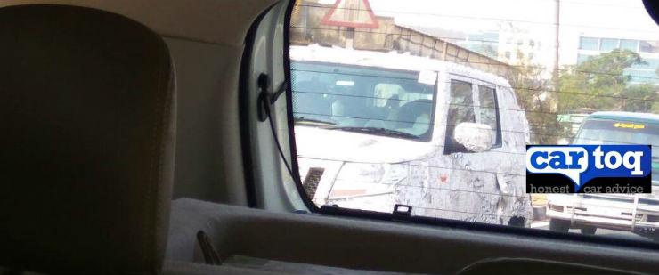 Mahindra TUV300 LWB spied