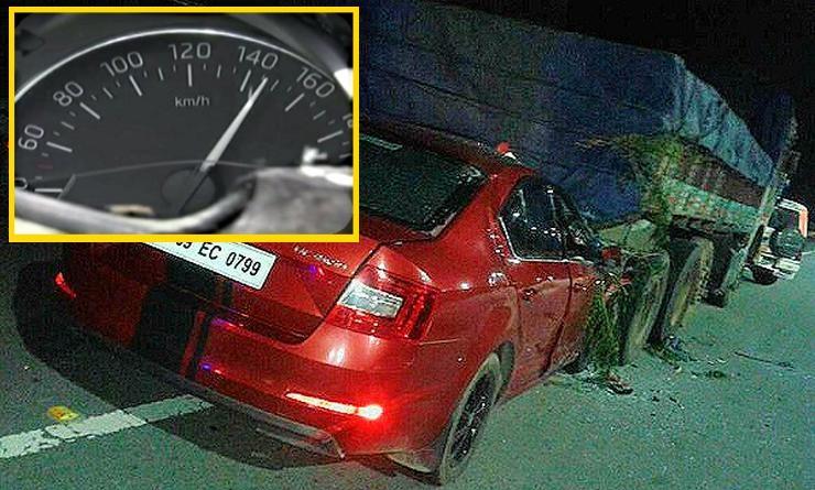 Bharath Raju Skoda Octavia Crash Hyderabad 2