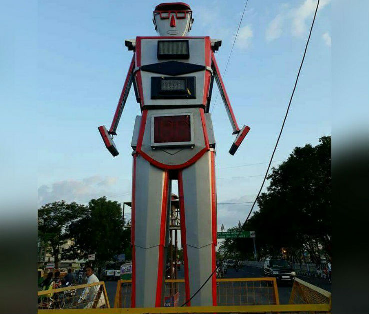 India's First Traffic Robot In Indore