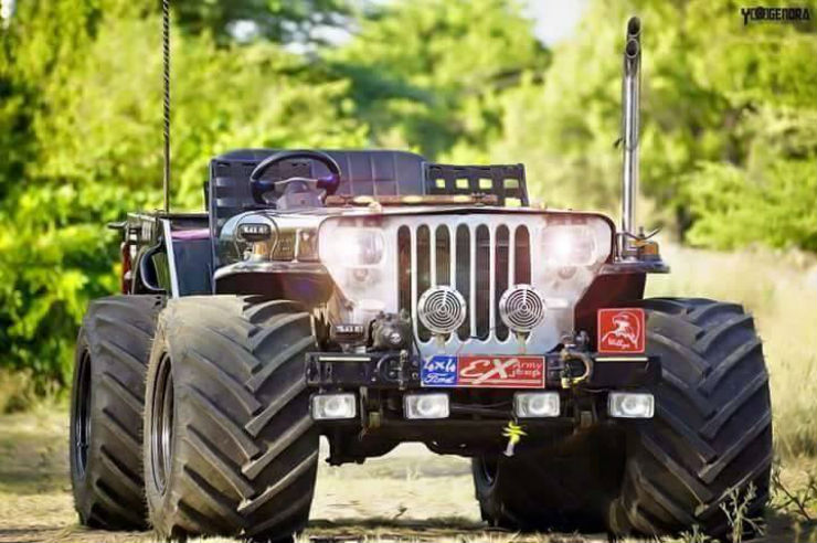 Army Jeeps For Sale >> 10 crazy COOL low rider jeeps of India: Edition II