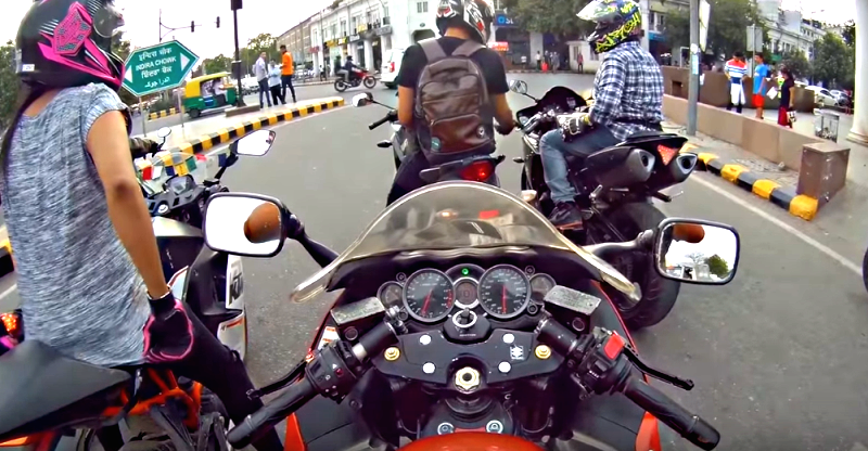 Irresponsible, dangerous riding by superbikers in Delhi, caught on video