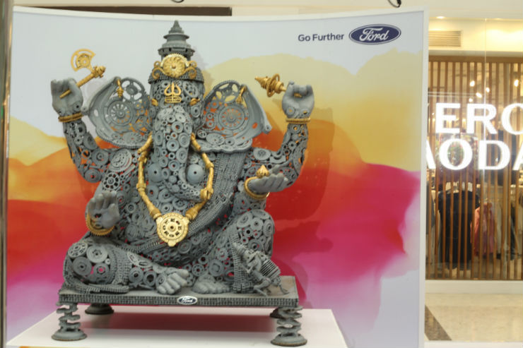 Ford celebrates Ganesh Chaturthi with Ganesh idol made of spare parts