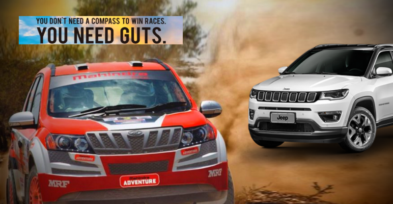After Hexa, XUV500 now trolls the Jeep Compass