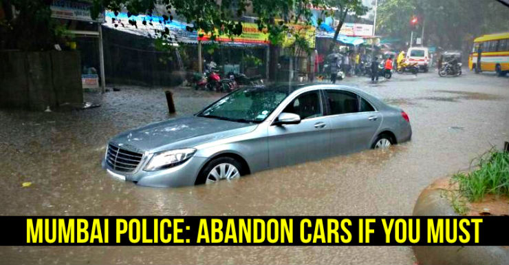 Mercedes Benz S-Class stuck in Mumbai rains floods featured