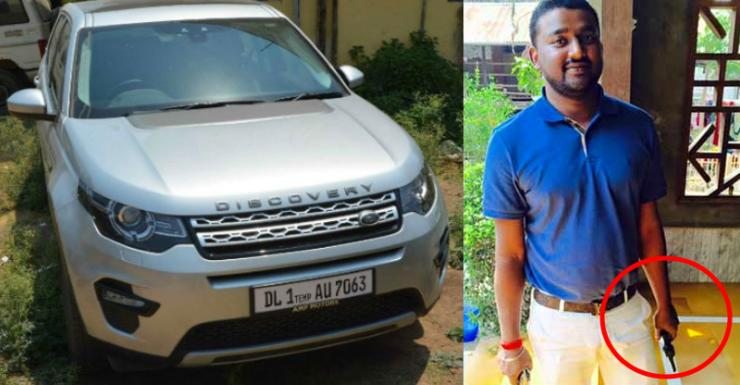 Rocky Yadav with his Land Rover Discovery Sport