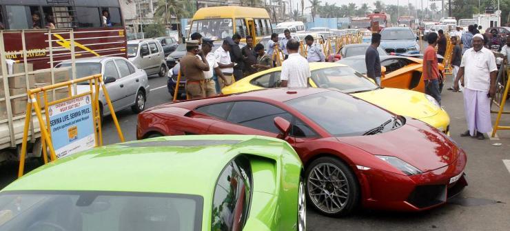 Supercars seized in Chennai