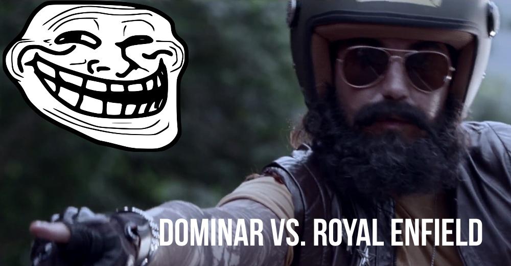 Bajaj Dominar trolls Royal Enfield in hilarious video ad!