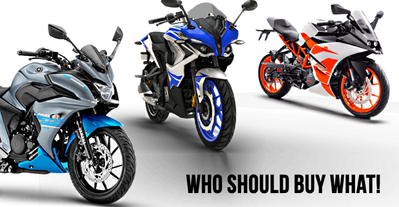 Yamaha Fazer 25, Bajaj Pulsar RS 200 and KTM RC200: Who should buy what