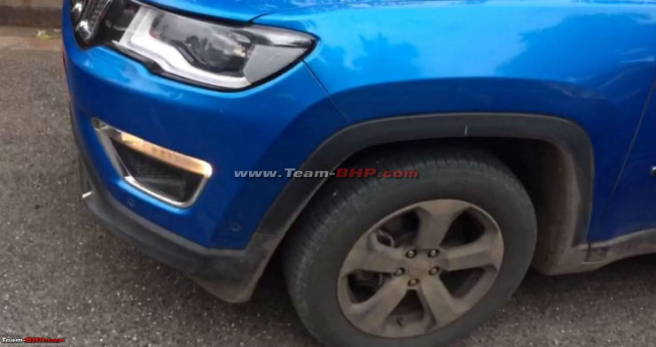 India-spec Jeep Compass SUV spotted with Sunroof & Front Parking sensors
