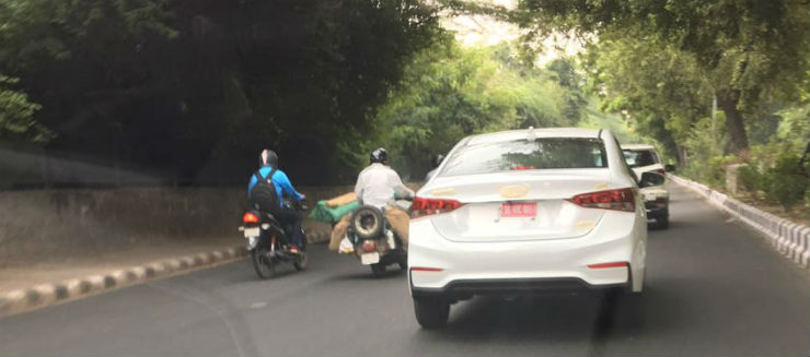 Hyundai Verna spotted ahead of launch today