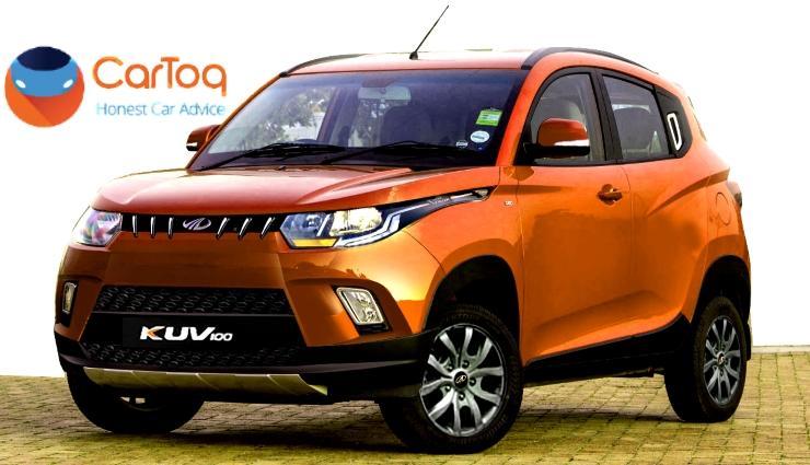 2017 Mahindra KUV100 Facelift in Orange