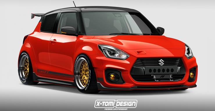 2018 Suzuki Swift Sport Render