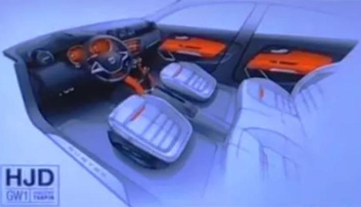 2018 all-new Renaut Duster Interior Sketch 3